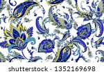 seamless pattern with beautiful ... | Shutterstock .eps vector #1352169698