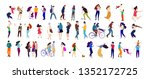 crowd of young people.... | Shutterstock .eps vector #1352172725