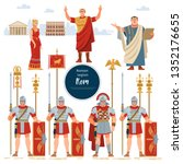roman empire. elements of the... | Shutterstock .eps vector #1352176655