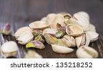 pistachio shells on vintage