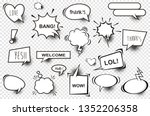 set of comic speech bubbles.... | Shutterstock .eps vector #1352206358
