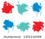 vector collection of artistic... | Shutterstock .eps vector #1352216498