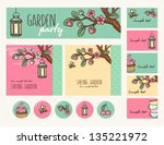 garden party cute collection.... | Shutterstock .eps vector #135221972