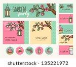 garden party cute collection.... | Shutterstock .eps vector #135221972