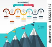 vector infographic layout with... | Shutterstock .eps vector #1352238542