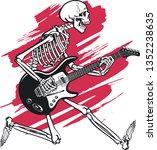 human skeleton playing on...   Shutterstock .eps vector #1352238635