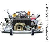 vector chrome bumper with car...   Shutterstock .eps vector #1352240375