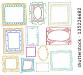 vintage photo frames set ... | Shutterstock .eps vector #135226682