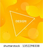 liquid color shape abstract... | Shutterstock .eps vector #1352298338