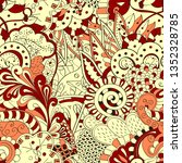 tracery seamless pattern....   Shutterstock .eps vector #1352328785