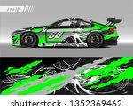 racing car wrap design vector....   Shutterstock .eps vector #1352369462