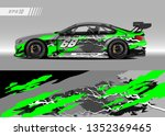 racing car wrap design vector....   Shutterstock .eps vector #1352369465