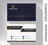 business model name card luxury ...   Shutterstock .eps vector #1352369822