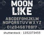 font handcrafted vector...   Shutterstock .eps vector #1352373455
