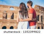 happy family in europe....   Shutterstock . vector #1352399822