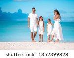 beach family caribbean tropical ...   Shutterstock . vector #1352399828