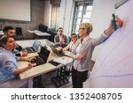 business team meeting working...   Shutterstock . vector #1352408705