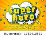 cartoon kid's alphabet in style ... | Shutterstock .eps vector #1352410592