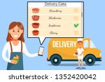 cake delivery service banner... | Shutterstock .eps vector #1352420042