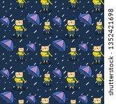 seamless pattern  cute cartoon...   Shutterstock .eps vector #1352421698