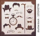 set of vintage elements for... | Shutterstock .eps vector #135243746