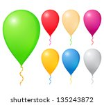 balloons on white background | Shutterstock . vector #135243872