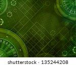 casino roulette green... | Shutterstock . vector #135244208