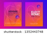 trance event. dynamic gradient... | Shutterstock .eps vector #1352443748