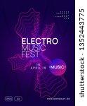 techno event. creative concert... | Shutterstock .eps vector #1352443775