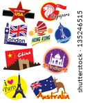 travel sticker | Shutterstock .eps vector #135246515