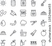 thin line icon set   flower in... | Shutterstock .eps vector #1352466455