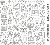 seamless pattern with graphic... | Shutterstock .eps vector #1352467355