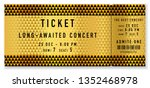 golden ticket template  concert ... | Shutterstock .eps vector #1352468978