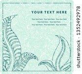 grunge vector greeting... | Shutterstock .eps vector #1352492978