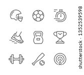 set line icons of sport | Shutterstock .eps vector #1352539598