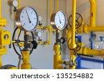 closeup of pressure meter on... | Shutterstock . vector #135254882