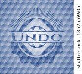 undo blue emblem with geometric ... | Shutterstock .eps vector #1352559605