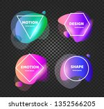abstract background shapes.... | Shutterstock .eps vector #1352566205