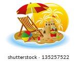 beach concept | Shutterstock .eps vector #135257522