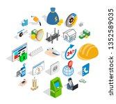 trading house icons set.... | Shutterstock . vector #1352589035