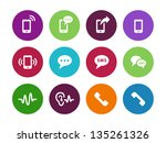 phone icons on white background.... | Shutterstock .eps vector #135261326