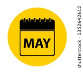 may calendar yellow vector icon ... | Shutterstock .eps vector #1352642612