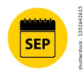 september calendar yellow... | Shutterstock .eps vector #1352642615