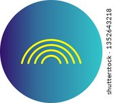 illustration rainbow icon    Shutterstock . vector #1352643218