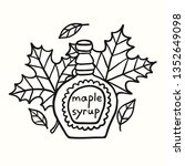 tasty doodle maple syrup and... | Shutterstock .eps vector #1352649098