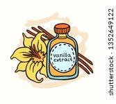 doodle vanilla extract in... | Shutterstock .eps vector #1352649122