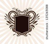 shield swirl ornament | Shutterstock .eps vector #135265088