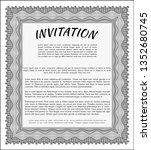 grey invitation template.... | Shutterstock .eps vector #1352680745