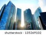 modern skyscrapers in singapore ... | Shutterstock . vector #135269102