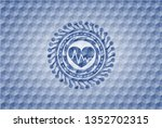 heart with electrocardiogram... | Shutterstock .eps vector #1352702315